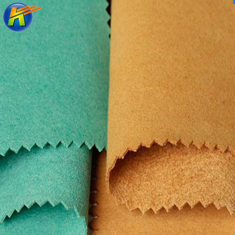 microfiber nonwoven leather soft suede leather shoes