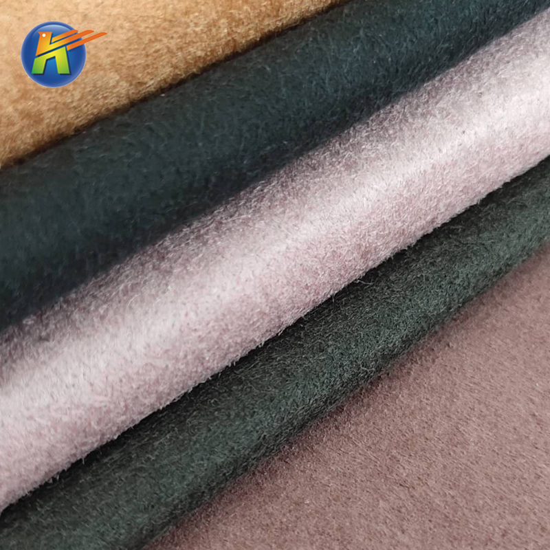 Factory direct sale microfiber base nonwoven fabric for bags and sofas